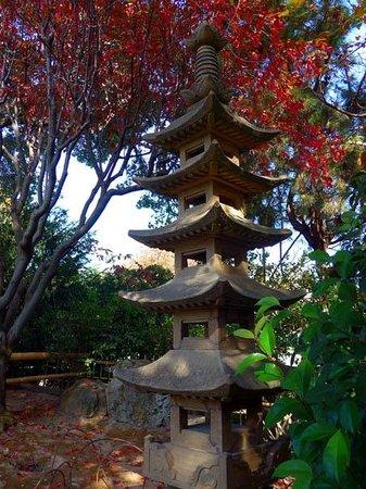 The San Mateo Japanese Garden: Pagoda - a gift from city of Toyonaka, Japan