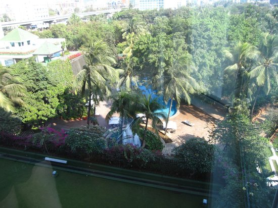 The Leela Mumbai: View of gardens from my room