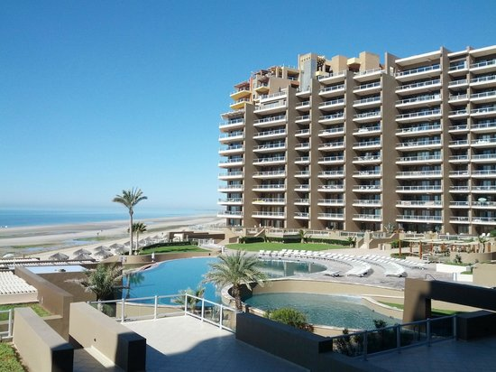 Las Palomas Beach & Golf Resort: View from A206... overlooking the great pools and ocean in front of Las Palomas