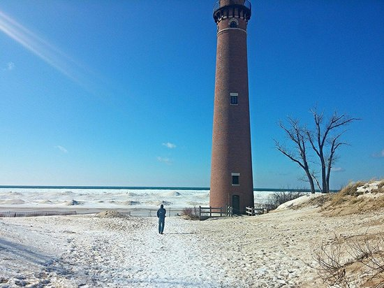Little Sable Point Lighthouse: Quick winter walk