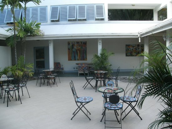 Open courtyard at Time Out Hotel