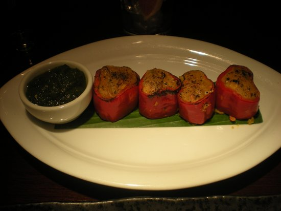 Mint Leaf Restaurant & Bar: Tasty Stuffed Pepper Starter