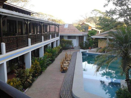 Hotel Samara Pacific Lodge: vue depuis la terrasse couverte