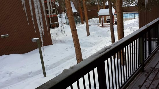 Forest Condominiums: View of the pool from our balcony