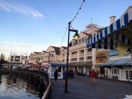 Disney's BoardWalk Villas: View from the Boardwalk looking toward ESPN end