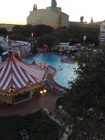 Disney's BoardWalk Villas: View of the Pool area from 5th floor