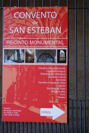 St. Stephen's Convent (Convento de San Esteban): cartel en la entrada
