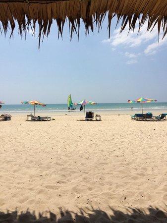 Memories Beach Bar: Vy från Beach Bar mot stranden