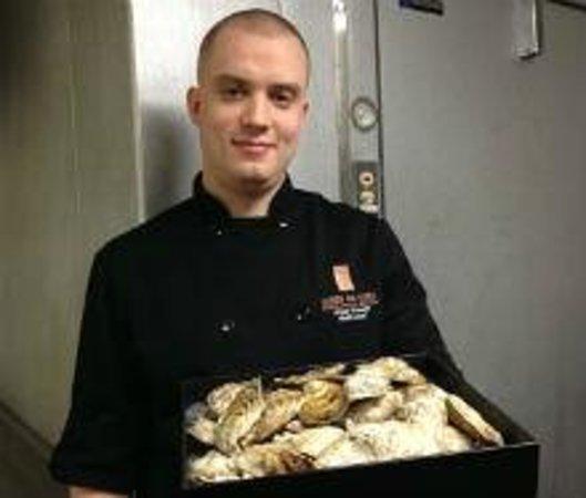 295 York: Head Chef Jesse Friesen with Village Bay Oysters