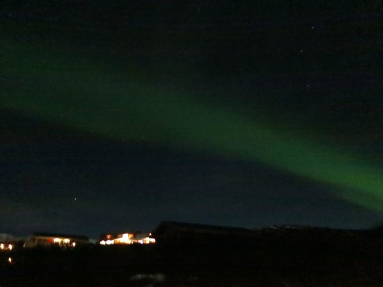 Hotel Glymur : Northern lights as seen from our villa