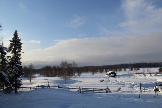 Vue d'une partie du terrain de l'auberge de Rajamaa