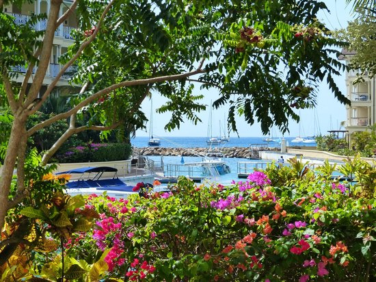 The Landings St. Lucia : Marina and glimpse of the sea