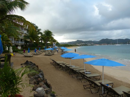 The Landings St. Lucia : Beach in the morning
