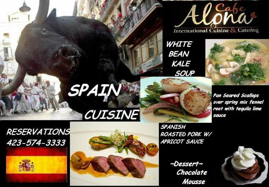 Cafe Alona: INTERNATIONAL SPAIN THURSDAY 27TH- MARCH 1ST DINNER ONLY