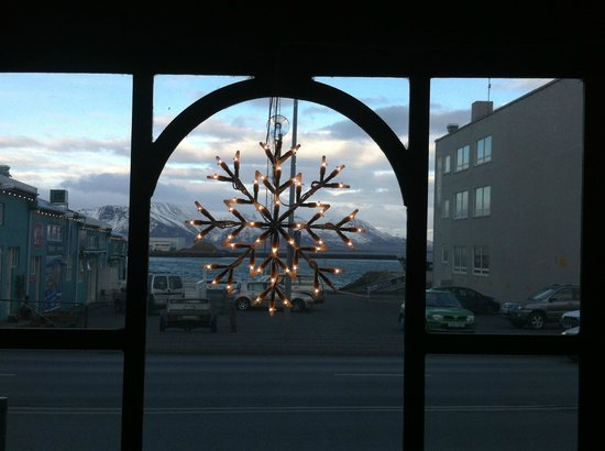 Icelandic Fish & Chips: View of the harbour from restaurant