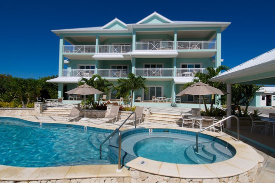 Compass Point Dive Resort: Poolside Condo Building and Resort Pool
