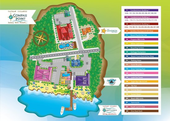 Compass Point Dive Resort: Resort Map