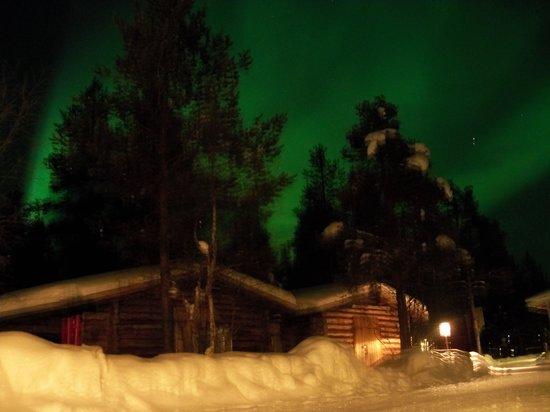 Kakslauttanen Arctic Resort: Northern Lights Over Reception At Igloo Village