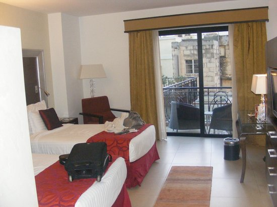 The Palace: Part of our room on arrival