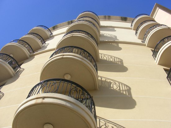 The Palace : The small balconies on other floors, ours was large on the first floor
