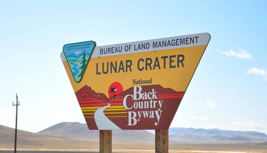 Lunar Crater Back Country Byway : Lunar Crater Sign