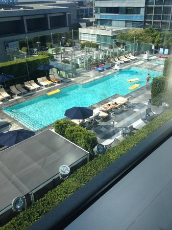 JW Marriott Los Angeles L.A. LIVE: Pool view from room