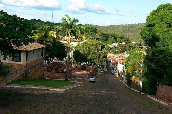 Hotel de Lencois: Vista da cidade a partir do Hotel de Lençóis