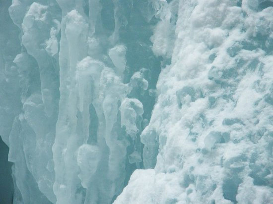 Maligne Adventures: One of the ice falls, closeup