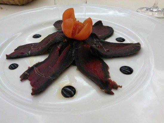 Granbaita: antipasto di cervo con aceto balsamico