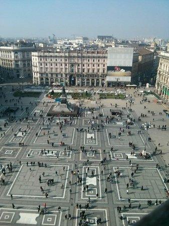 Piazza del Duomo : Veduta dalla cima del duomo