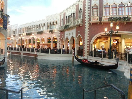 The Venetian Las Vegas: Inside Venetian canals and gondolas