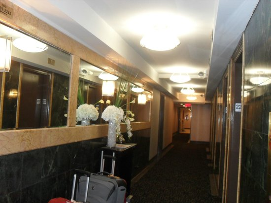 Hotel Edison Times Square : Lovely area in front of elevators on 22nd floor.