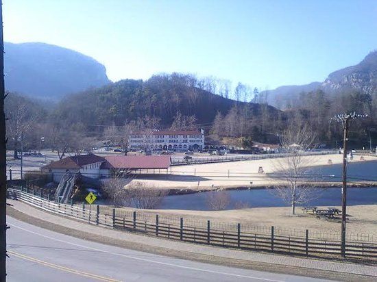 "La Strada at Lake Lure: The Lake Lure Inn across from La Strada where many scenes from ""Dirty Dancing"" were filmed!"