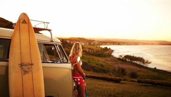 Pacific Coast Australia, Australie : Surfing at Lennox head