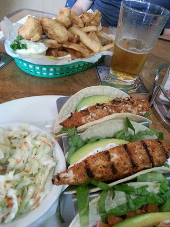 Quinn's Almost By The Sea: Ono fish and chips and Ono fish tacos, both live up to their ono name! Delicious!