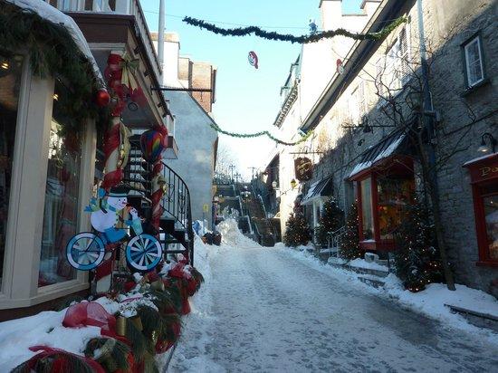 Quartier Petit Champlain: in February