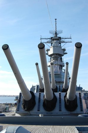 USS Wisconsin: From the deck, Battleship Wisconsin