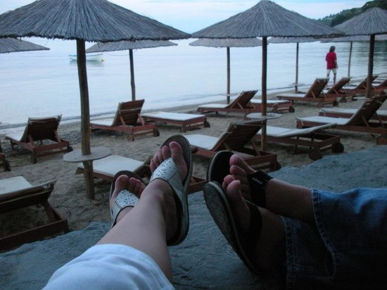 Hotel Esperides: Waiting for the taxi boat