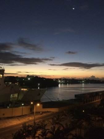 Hodelpa Nicolas de Ovando: The view from out our window after checking in at sunrise.