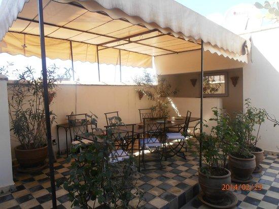 Riad Princesse Jamila: terrasse