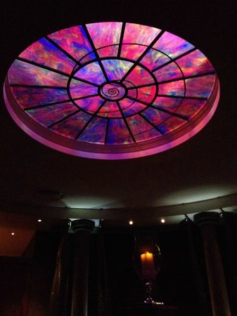 Rockliffe Hall: The ceiling in the 'Sleep Room'