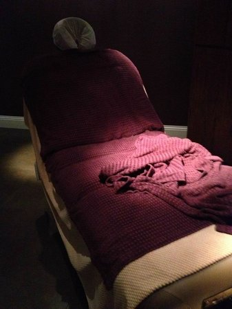 Rockliffe Hall: My comfy treatment bed