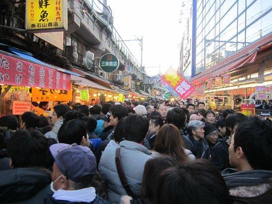 Ameyoko Shopping Street: quasi impossibile passare