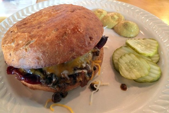 Yards Brewing Company - Smoked Bison Sausage Sandwich With Bison Chili And Cheddar-Jack Cheese