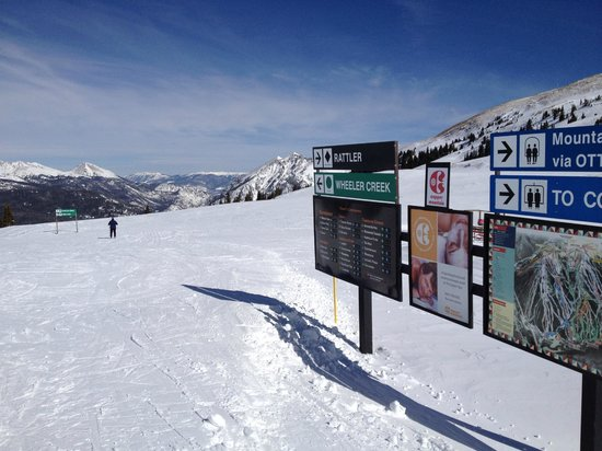 Copper Mountain Ski Area: From the top of the Rendezvous Chair.