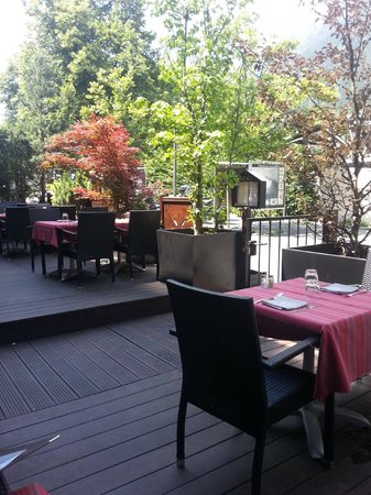 Park Hotel Suisse & Spa: La terrasse du restaurant