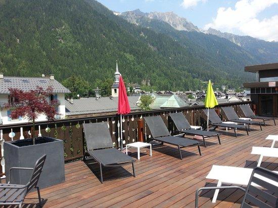 Park Hotel Suisse & Spa: La terrasse sur le toit