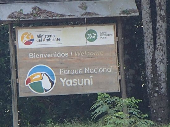 Manatee Amazon Explorer: Yasuni National Park sign