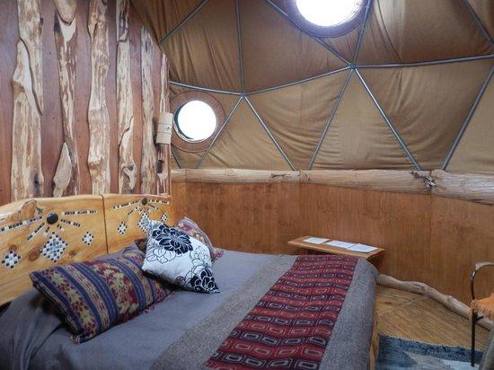 Ecocamp Patagonia : Superior Dome interior