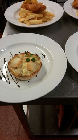 the bell inn: Goats cheese and red onion tart